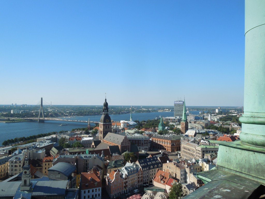 The view from St Peter's Church in Riga Old Town, Latvia