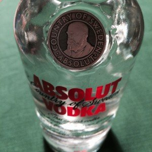 The face of L O Smith on an Absolut Vodka bottle