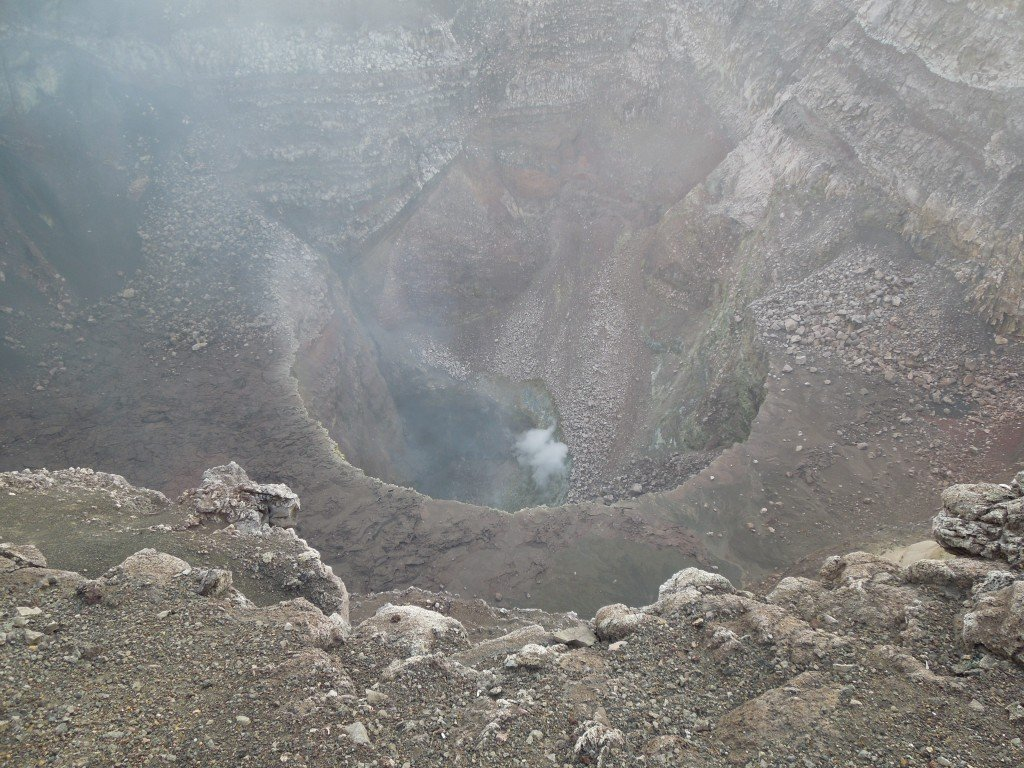 Smoke at the Masaya volcano