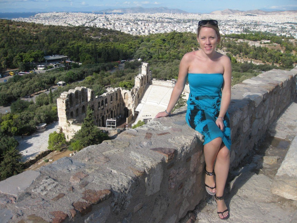 In front of the Odeon of Herodes Atticus, Athens
