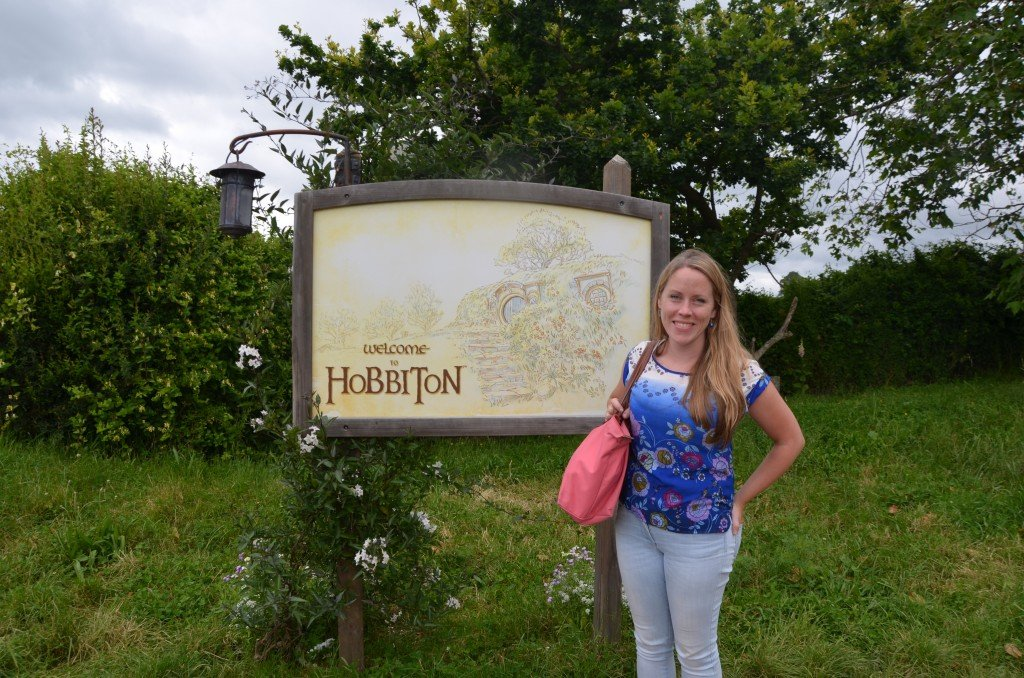 Welcome to Hobbiton sign