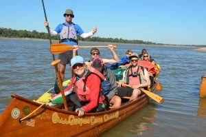 Mississippi canoe group picture