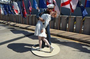 Kissing sailor