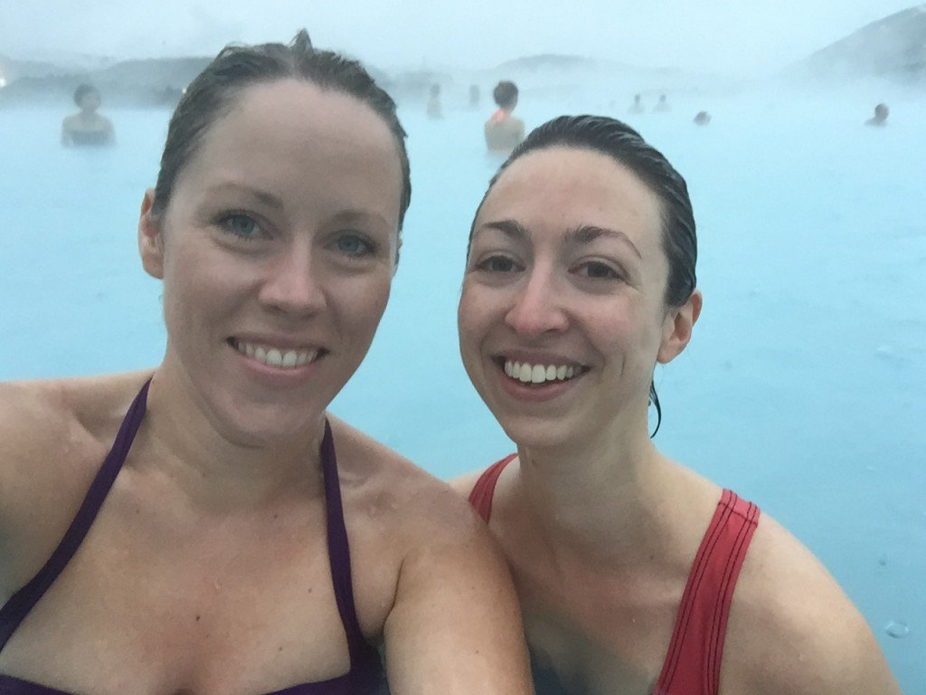 selfie at the Blue Lagoon