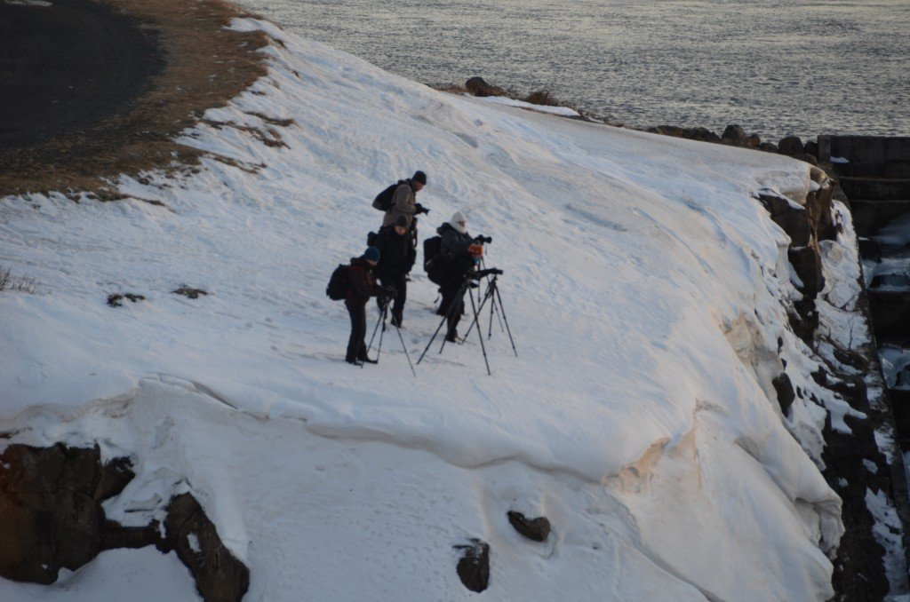Photographers at Faxi waterfall