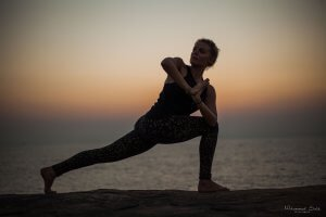 Laura Gwilliam yoga pose